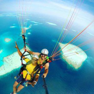 Полет на параплане с инструктором на Мальдивах