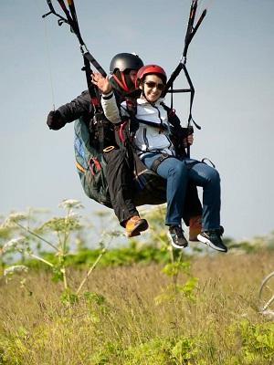 Полет на параплане с инструктором для двоих