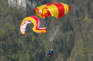 Применение запасного парашюта Бимер