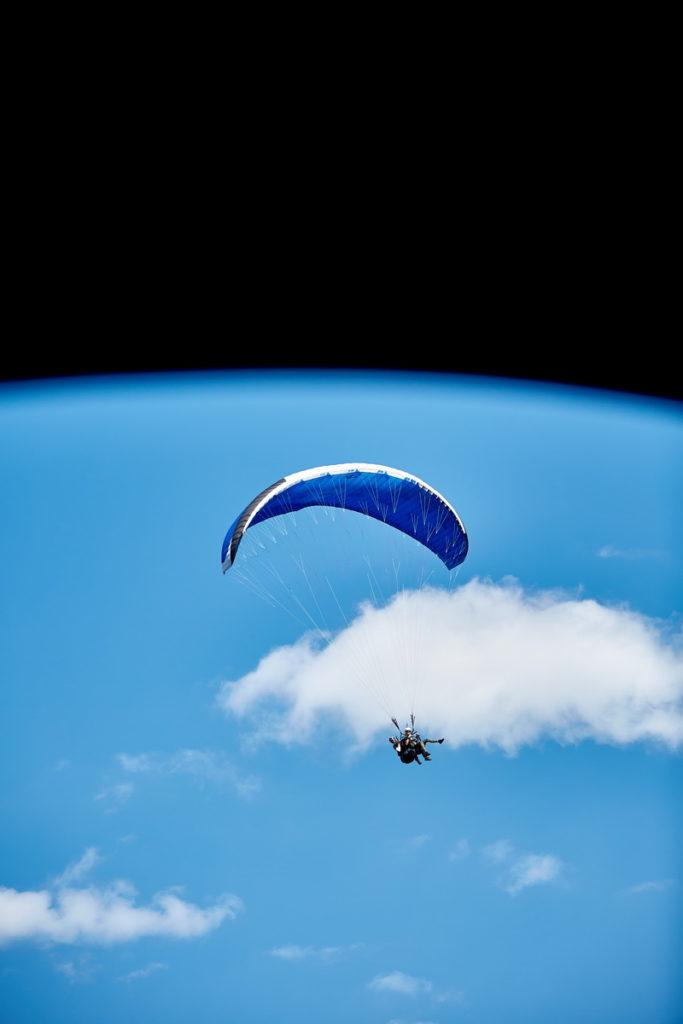 Парящий полет на параплане с инструктором